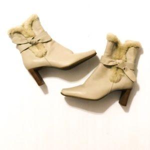 Markon Ankle Boot Heels Cream 6.5